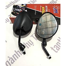 Kính chiếu hậu chân ngắn kiểu tai mèo ( 1cặp) dành cho xe máy