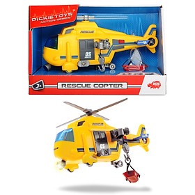 Đồ Chơi Trực Thăng Cứu Hộ Dành Cho Bé DICKIE TOYS Rescue Copter 203302003 - Đồ Chơi Đức Chính Hãng (18 cm)