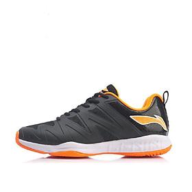 Giày cầu lông Li-Ning AYTP023-3 mẫu mới tăng độ ma sát chống trơn trượt khi di chuyển hàng chính hãng dành cho nam màu đen phối vàng đủ size