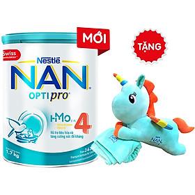 Sữa Bột Nestlé NAN OPTIPRO 4 HM-O 1.7kg + Tặng Gối Mền Kì Lân 1 Sừng