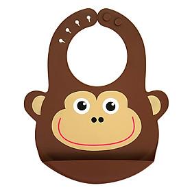 Yếm Silicone Bib Monkey (Nâu)