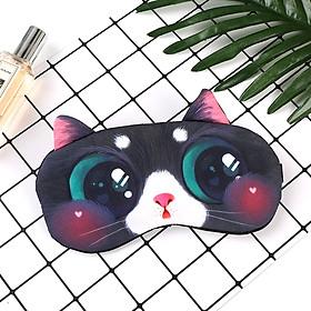 Bịt mắt ngủ con mèo - bịt mắt ngủ có túi nước giải nhiệt tặng kèm bịt tai chống ồn