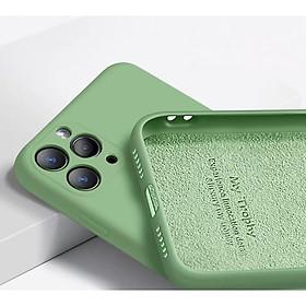 Ốp Lưng Silicone Dẻo Lót Nhung Nỉ Chống Sốc Dành Cho Các Dòng Điện Thoại iPhone 11 Pro Max ( Hạn Chế Bám Vân Tay, Bảo Vệ Camera )