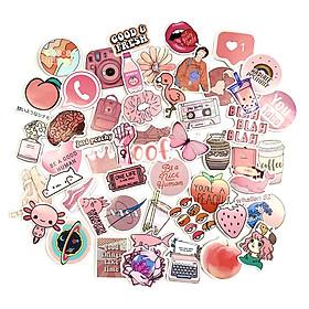 Sticker Peach Màu Lòng Đào Hình Dán Trang Trí Nón Bảo Hiểm Va Ly Decal Chống Nước Chất Lượng Cao Bomb Laptop Xe Đạp Xe Máy Xe Điện Motor Máy Tính Học Sinh Tủ Quần Áo Nắp Lưng Điện Thoại