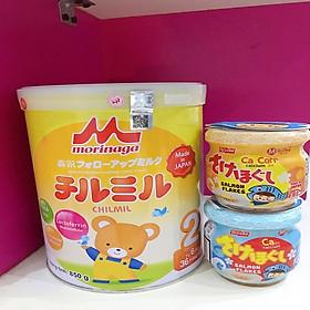 Sữa Morinaga Số 2 - Chilmil (850g) tặng 2 hộp ruốc cá hồi meiwa ( giật quai)