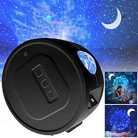 Ocean Starry Sky Projection Light Water Pattern Colorful Rotating Moon Night Light Projector