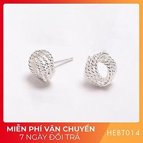 Bông hoa tai nữ bạc s925 cao cấp HEBT014 BH trọn đời
