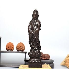 Tượng Quan Âm bằng gỗ trang trí phong thủy