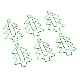 6x Cây Giáng Sinh Hình Kẹp Giấy Sáng Tạo Kẹp Đánh Dấu Trang Văn Phòng Phẩm