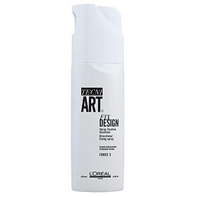 Gôm xịt tóc L'oreal Tecni.art Fix Design spray Force 5 cứng định hình kiểu tóc 200ml