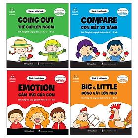 Combo Black & White Book: Compare - Con Biết So Sánh + Emotion - Cảm Xúc Của Con + Going Out - Thế Giới Bên Ngoài + Big & Little - Động Vật Lớn Nhỏ (Bộ 4 Cuốn)