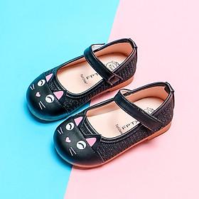 Giày họa tiết mèo cho bé gái