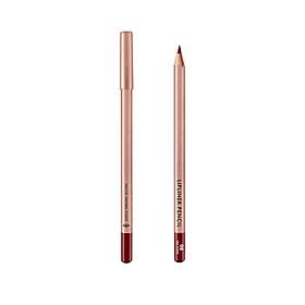 (BẢN MỚI) Chì Kẻ Viền Môi Vacosi Lipliner Pencil No.08 Red Wood - Đỏ Trầm