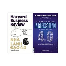 Bộ Sách Bí Quyết Kinh Doanh Hiệu Quả Trong Thời Kỳ 4.0 ( Nhà Lãnh Đạo 4.0 + Bán Mà Như Không - Marketing Thực Chiến Trong Thời 4.0 ) tặng kèm bookmark Sáng Tạo