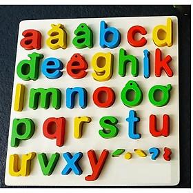 Bảng chữ cái tiếng Việt nổi gỗ cao cấp cho bé