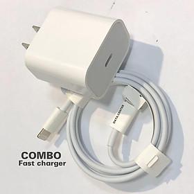 Bộ sạc PD 20w cho Iphone 12, củ cóc dây nạp nhanh ip 8, 8plus, x, xs, xsmax, 11, 11pro cáp type c to Lightning dài 1m