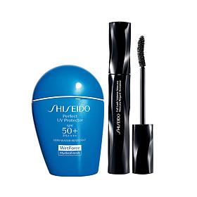 Hình đại diện sản phẩm Bộ sản phẩm chống nắng Suncare Perfect Uv Protector H SPF 50+ 50ml + Mascara làm dày và dài mi Shiseido Full Lash Volume Mascara 8ml