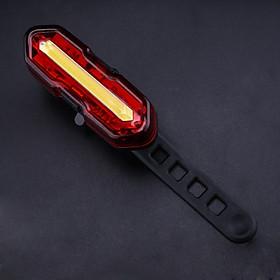 Đèn Hậu Xe Đạp HYD186 | Sạc Pin USB, Chống Nước | LED 2 Màu, Thời Gian Sáng Tối Đa 15 Giờ