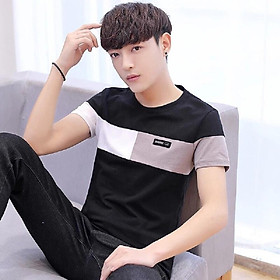 Áo thun nam cổ tròn tay ngắn trẻ trung, chất liệu cotton cao cấp mẫu THUU15