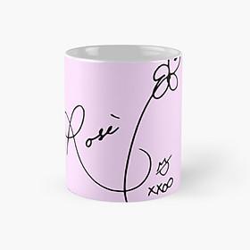 Cốc ly sứ Blackpink in chữ Rose cốc ly sứ uống nước có quai
