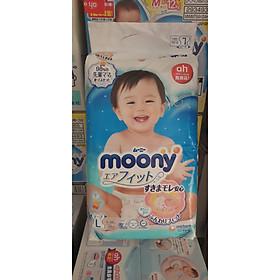 Tã dán Moony size L 54 + 4 (58 miếng)