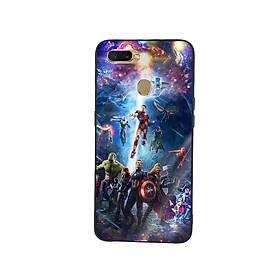 Ốp Lưng Kính Cường Lực cho điện thoại Oppo A7 - Marvel 02