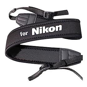 Dây Đeo Chống Mỏi Cho Máy Ảnh Nikon Chữ Trắng