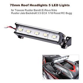 70mm Roof Headlights RC Off-Road Dome 5 LED Lights for Traxxas Rustler Bandit E-Revo Nitro Rustler Jato Redcat Backdraft