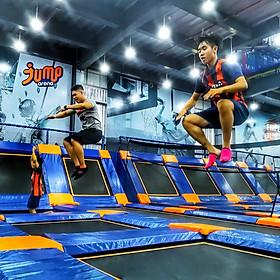 Vé Vào Khu Vui Chơi Bạt Nhún Jump Arena + Vớ Bám Bạt Nhún Dành Cho 2 Người (HCM/ HN)