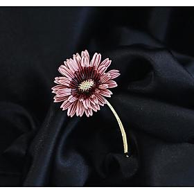 Cài áo nữ cành hoa tím sang trọng dạ tiệc caka01