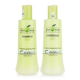 Cặp dầu gội xả siêu mượt Chihtsai Volume Moisture Olive Shampoo & Conditioner 500ml