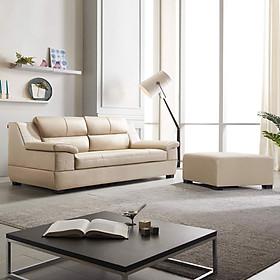 GHẾ SOFA DA THẬT 3 CHỖ NGỒI KÈM ĐÔN SF309A - nội thất Hàn Quốc Dongsuh Furniture
