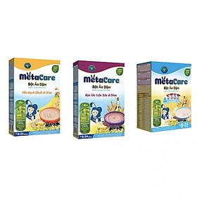 Bột ăn dặm dinh dưỡng Metacare Yến Mạch Gạo Lức 4 vị Ngọt phát triển toàn diện (200g)