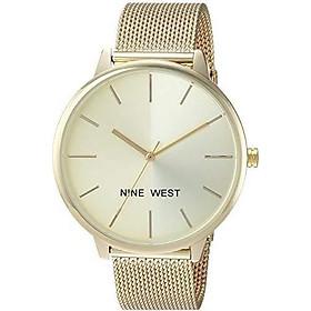 Nine West Women's NW/1981 Sunray Dial Mesh Bracelet Watch