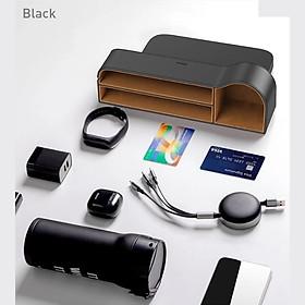 Ngăn chứa đồ tiện dụng dùng trên xe hơi Baseus Elegant Car Storage Box (Leather + Flannelette, Storage Organizer) LV619 [Hàng Chính Hãng]