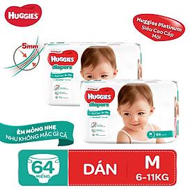 Biểu đồ lịch sử biến động giá bán Combo 2 tã dán Huggies Diapers Platinum M64