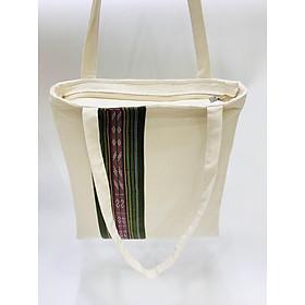Túi tote thổ cẩm thời trang nữ - Khóa kéo