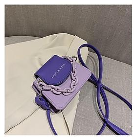 Túi đeo chéo nữ    Túi xách nữ mini phối màu Fashion & Bag TD13