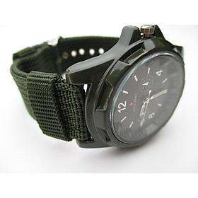 Swiss Army Men`s Green Fabric Strap Watch
