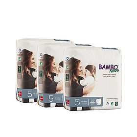 Combo 3 gói Tã Quần Em Bé Hữu Cơ Bambo Nature - gốc Đan Mạch - 12-20kg - XL20 - 20 miếng-0