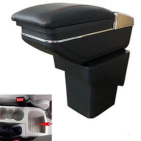 Hộp tỳ tay ô tô, xe hơi dùng cho xe Ford Focus JDZX-FC, kích thước đế ốp vào:  13*11cm, Chất liệu sản phẩm :nhựa ABS + da PU cao cấp, khoang chứa đồ được tích hợp ngăn để chai nước