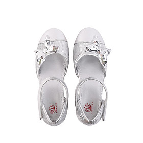 Giày búp bê bé gái Crown Space Crown UK Princess Ballerina CRUK393 - Màu bạc