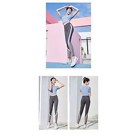Sét bộ đồ tập Yoga, Gym, Aerobic Cao cấp Mẫu Mới, Quần Cạp Cao, Áo có kèm đệm mút - NEW