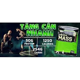 Serious Mass 5.4Kg (12Lbs) - Sữa Tăng Cân, Tăng Cơ cho người Gầy, bổ sung đầy đủ thành phần dinh dưỡng