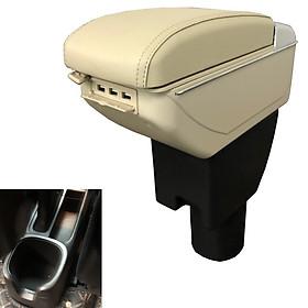 Hộp tỳ tay ô tô, xe hơi cao cấp Vinfast Fadil tích hợp 7 cổng USB - DUSB-FD