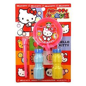 Bộ thổi bong bóng xà phòng Kitty nội địa Nhật Bản