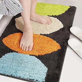 Thảm chùi chân, thảm nhà tắm, thảm cửa ra vào họa tiết Ovan Đen