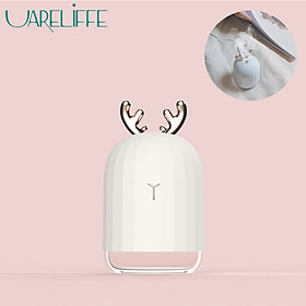 Uareliffe 220ML Air Humidifier Mini Portable Ultrasonic Fogger Water Diffuser USB Rechargeable Humidification Mist Maker With LED Night Light Air Purifier Skin Care Tool For Home Office Car Use