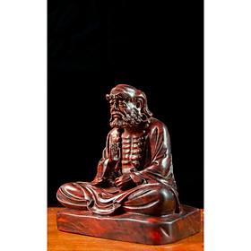 Tượng gỗ mỹ nghệ - Đạt Ma Tọa Thiền - Gỗ trắc đỏ đen