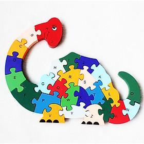 Tranh Ghép Gỗ Cần Cẩu tác dụng 5 trong 1: tư duy lắp ghép, học chữ, học số, học màu, học nhận biết con vật